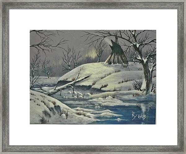 Cool Winter Eve Framed Print