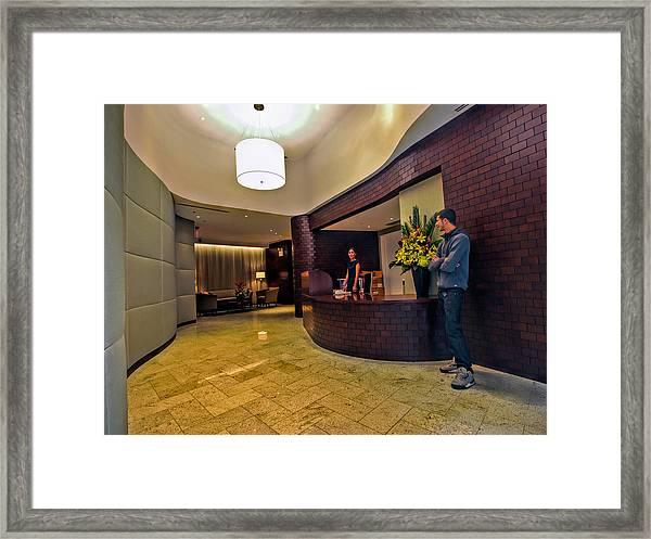 Cooper Lobby Framed Print