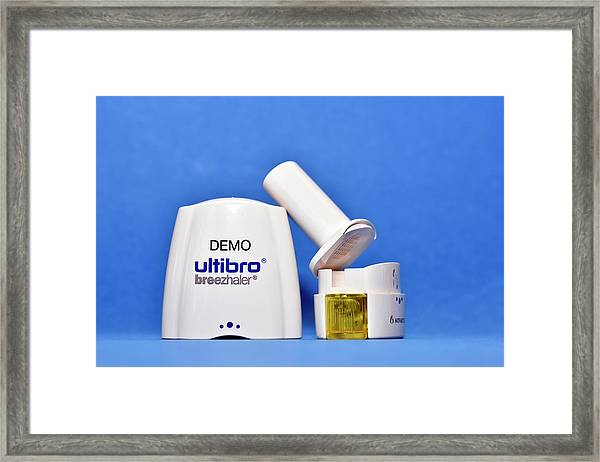 Copd Inhaler Framed Print by Dr P. Marazzi/science Photo Library