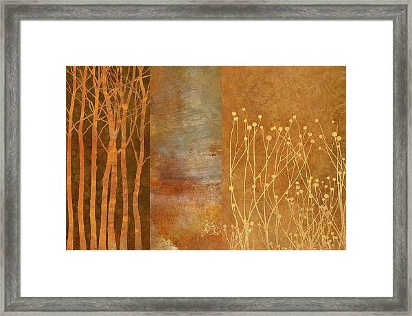 Copper Collage Framed Print