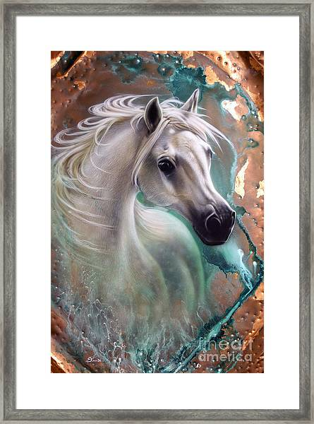 Copper Grace - Horse Framed Print