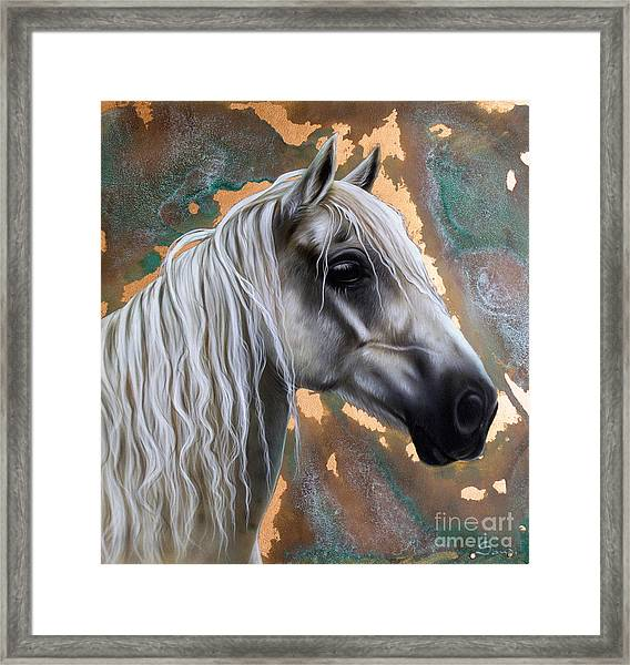 Copper Horse Framed Print