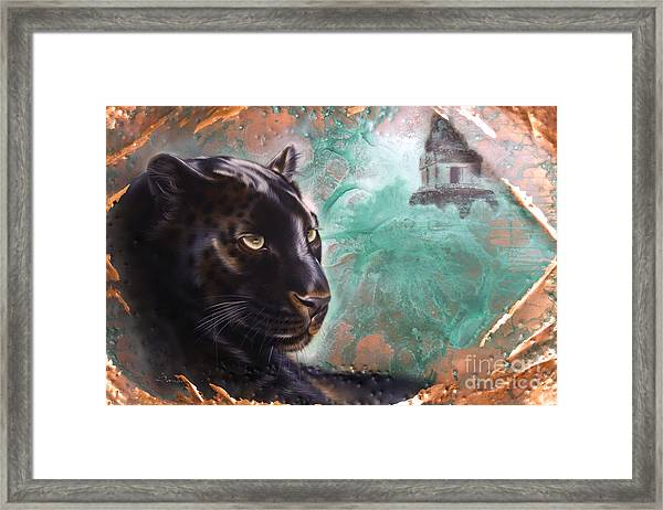 Copper Jaguar Framed Print