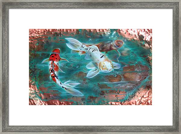 Copper Koi Framed Print