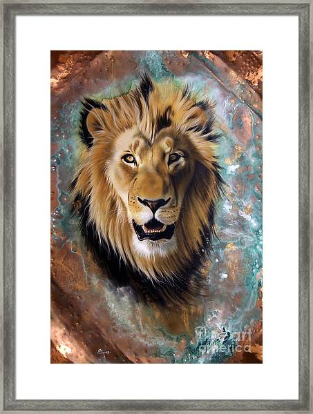 Copper Majesty - Lion Framed Print