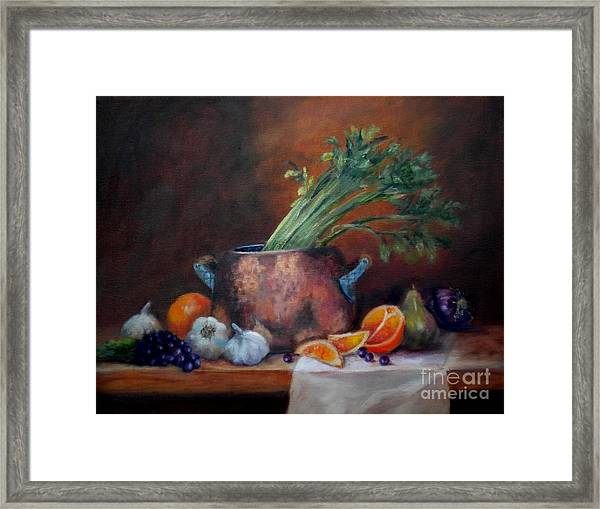 Copper Pot Still Life Framed Print