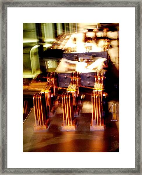 Copper Switches Framed Print