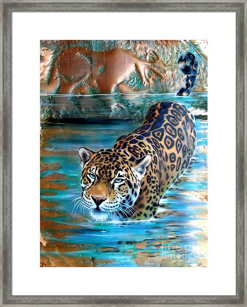 Copper - Temple Of The Jaguar Framed Print