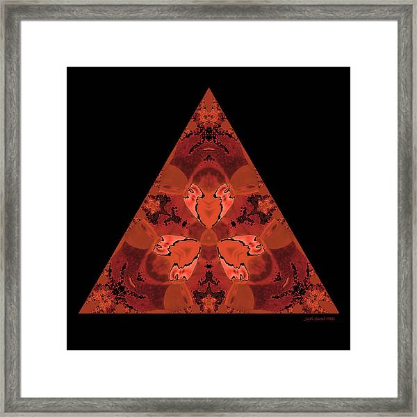 Copper Triangle Abstract Framed Print
