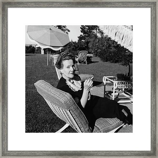 Cora Kavanagh Smoking A Cigarette Framed Print