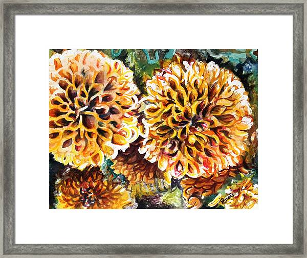 Coral Flowers Framed Print