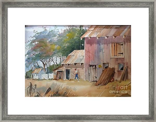 Coral Road Farm Framed Print
