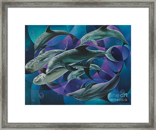 Corazon Del Mar  Framed Print
