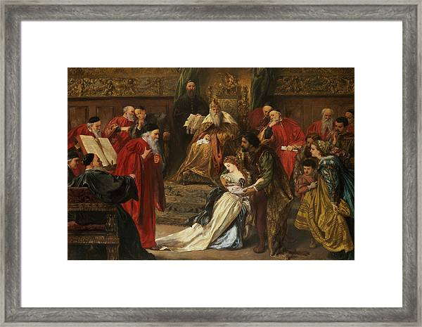 Cordelia In The Court Of King Lear, 1873 Framed Print