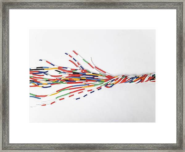 Cords Of Wool In The Eu Colors Framed Print by Justin Case