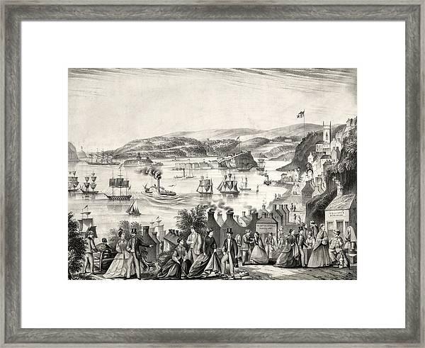 Cork Harbour, 1872 Framed Print