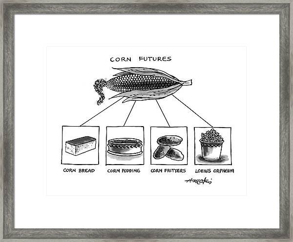 Corn Furures Framed Print
