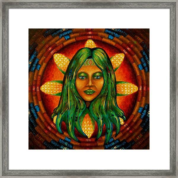 Corn Maiden Framed Print