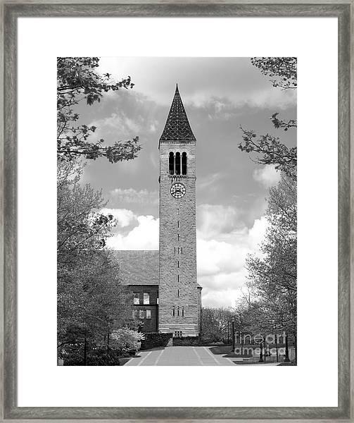 Cornell University Mc Graw Tower Framed Print