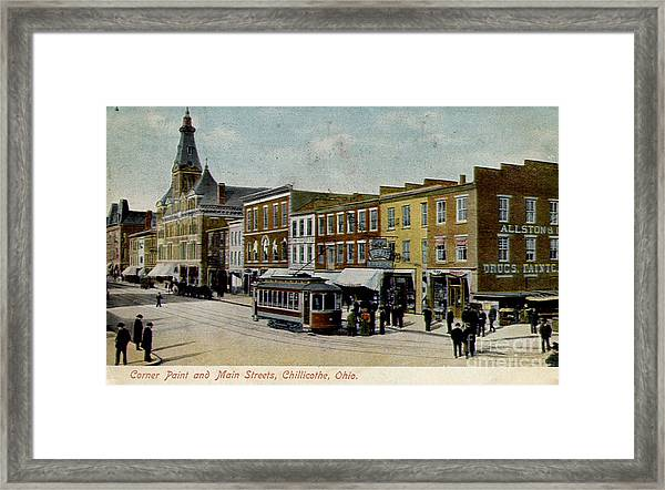 Corner Of Paint And Main - Chillicothe Ohio Framed Print