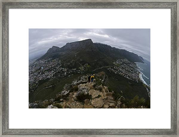 Corner Of The Table Framed Print by Aaron Bedell