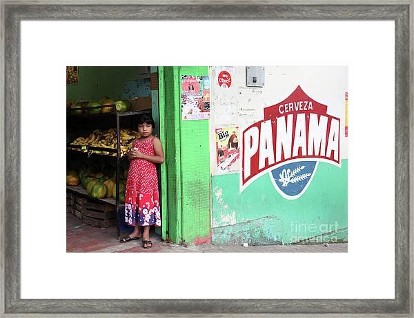 Corner Shop Panama Framed Print