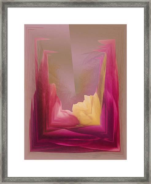 Cornered Yellow Rose Framed Print