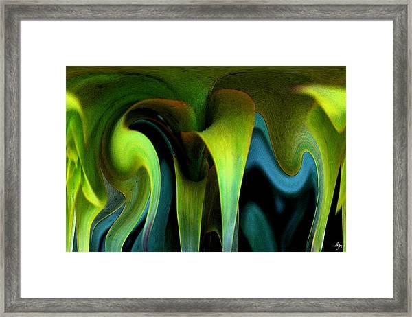 Cornflower Abstract No1 Framed Print