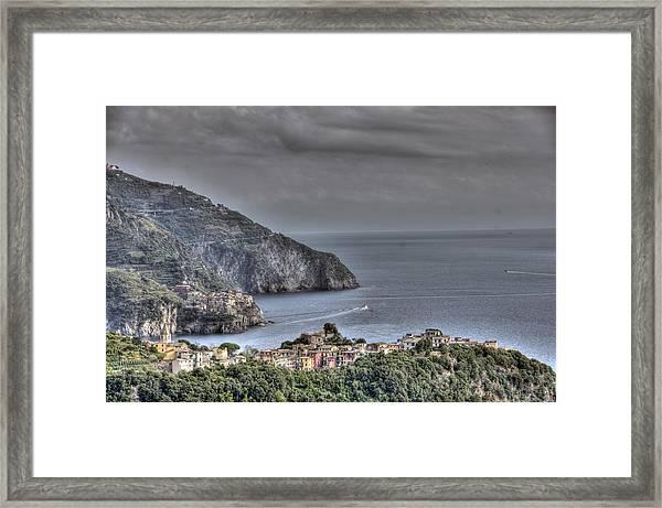Corniglia And Manarola By The Sea Framed Print