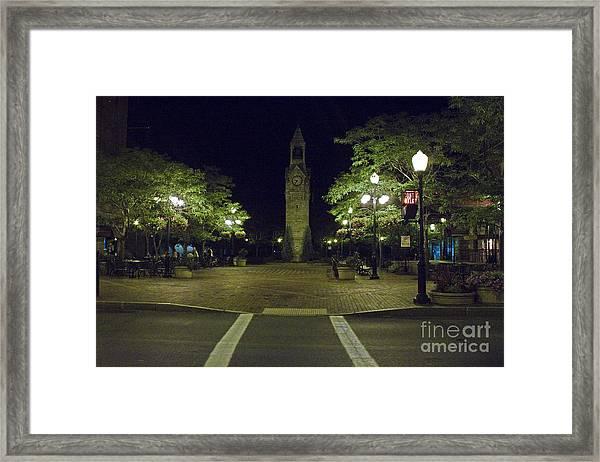 Corning Clock Tower Framed Print