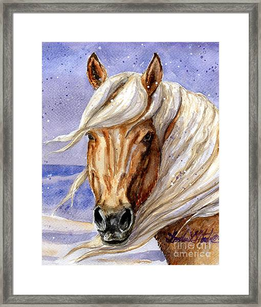 Corona Band Stallion Of Sand Wash Basin Hma Framed Print