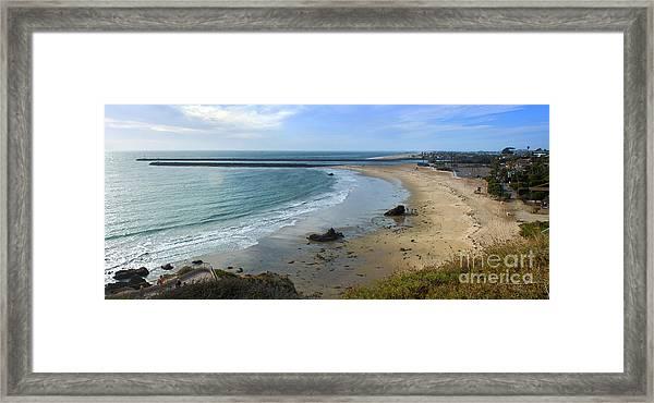 Corona Del Mar Beach View - 02 Framed Print