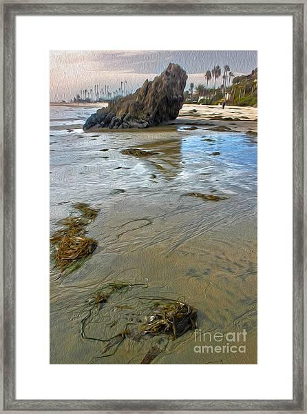 Corona Del Mar Coast Framed Print