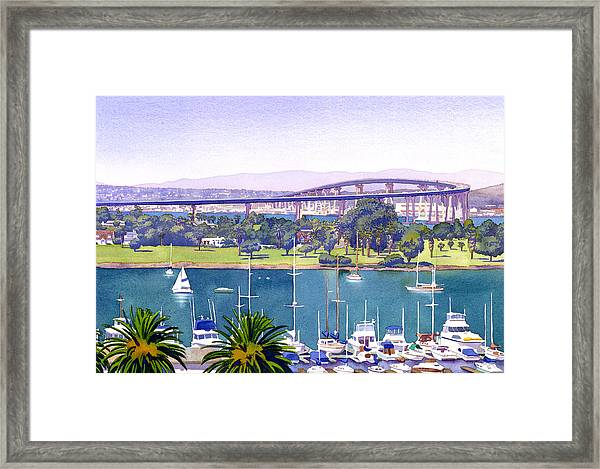 Coronado Bay Bridge Framed Print