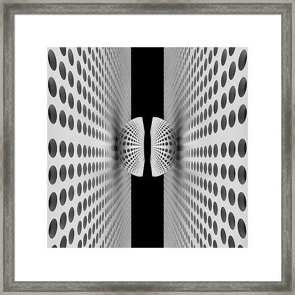 Corridor Of Ball Framed Print