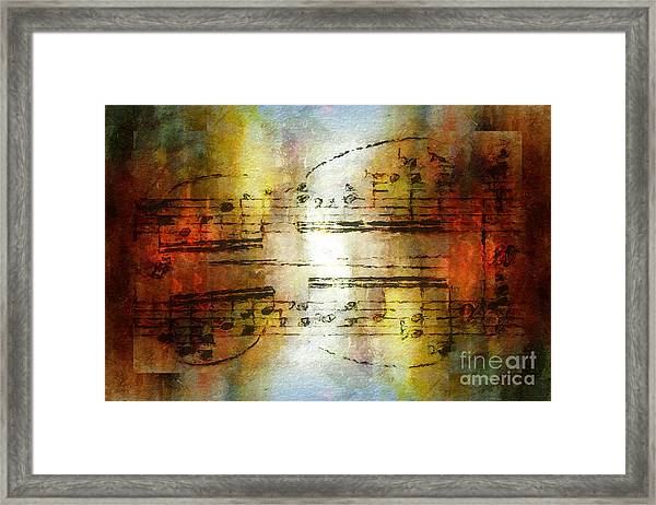 Corroded Cadence Framed Print