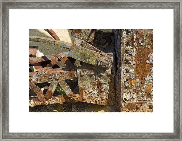 Corroded Steel Framed Print