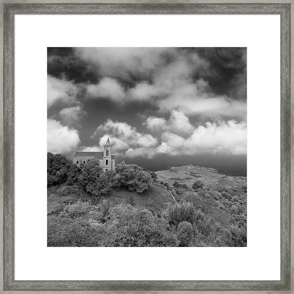 Corsican Church Framed Print