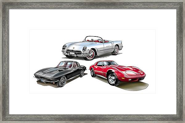 Corvette Generation Framed Print