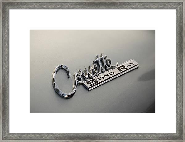 Corvette Sting Ray Framed Print