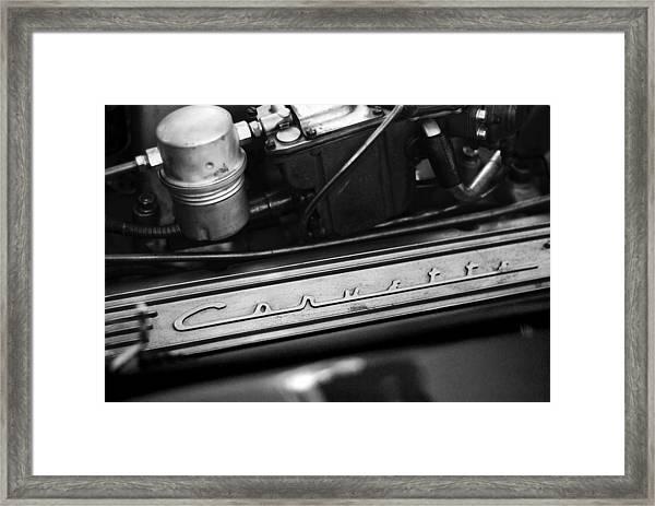 Corvette Valve Cover Framed Print