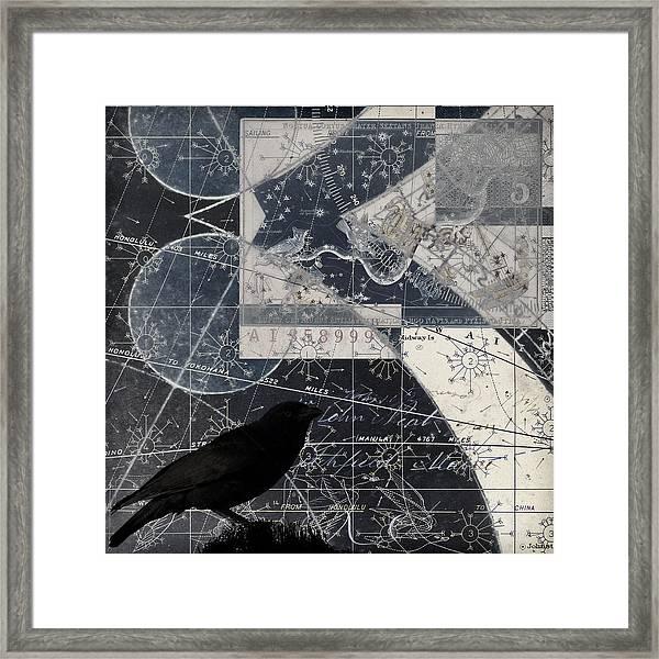 Corvus Star Chart Framed Print