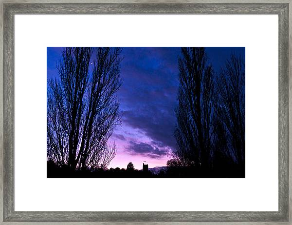 Cosgrove Sunset With Moon Framed Print