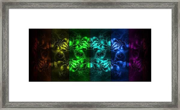 Cosmic Alien Eyes Pride Framed Print