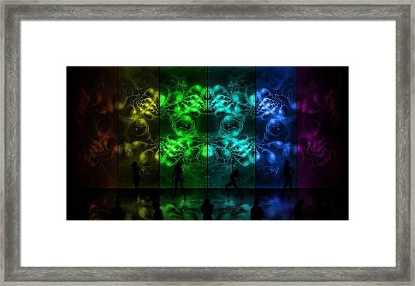 Cosmic Alien Vixens Pride Framed Print