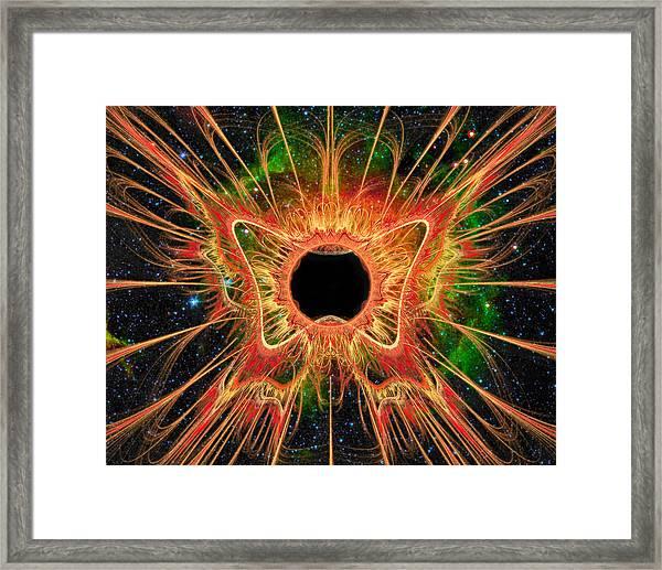 Cosmic Butterfly Phoenix Framed Print