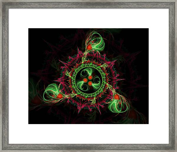 Cosmic Cherry Pie Framed Print