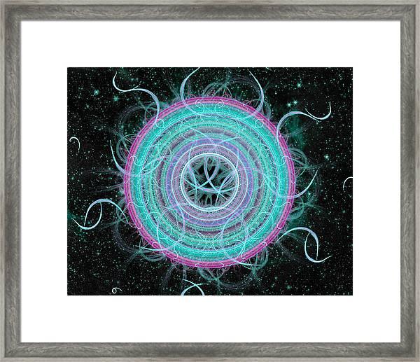 Cosmic Circle Framed Print