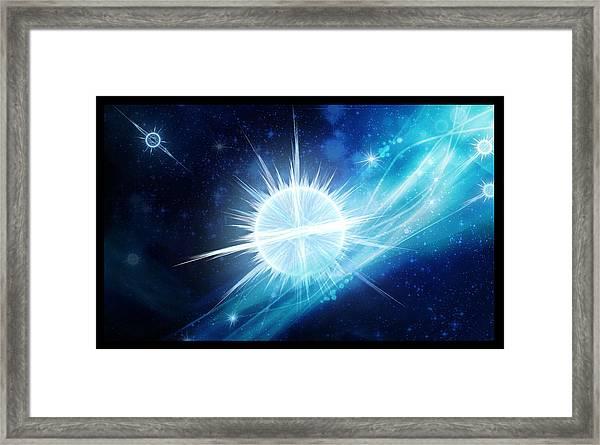 Cosmic Icestream Framed Print