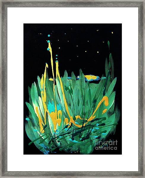 Cosmic Island Framed Print